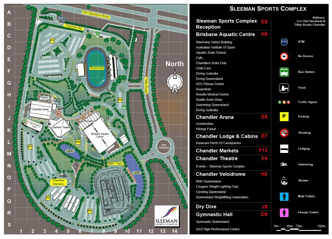Sleemans Site Plan of the Sports Complex