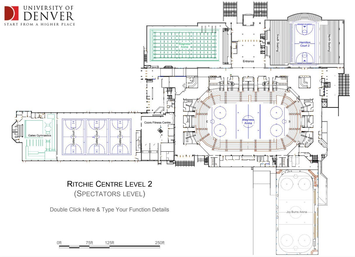University of Denver floor plan of Ritchie Centre