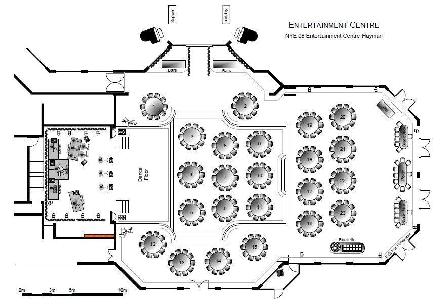 Entertainment Centre Hayman Floor Plan By eventdraw
